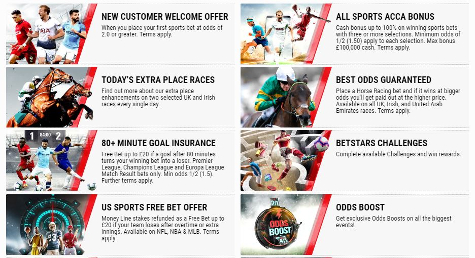 Existing Customer Offers   Free Bets Offers